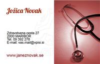 vizitke medicina in zdravstvo