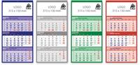 Tridelni koledar - lepljen