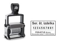 Trodat 55510 štampiljka numerator z odtisno gumo